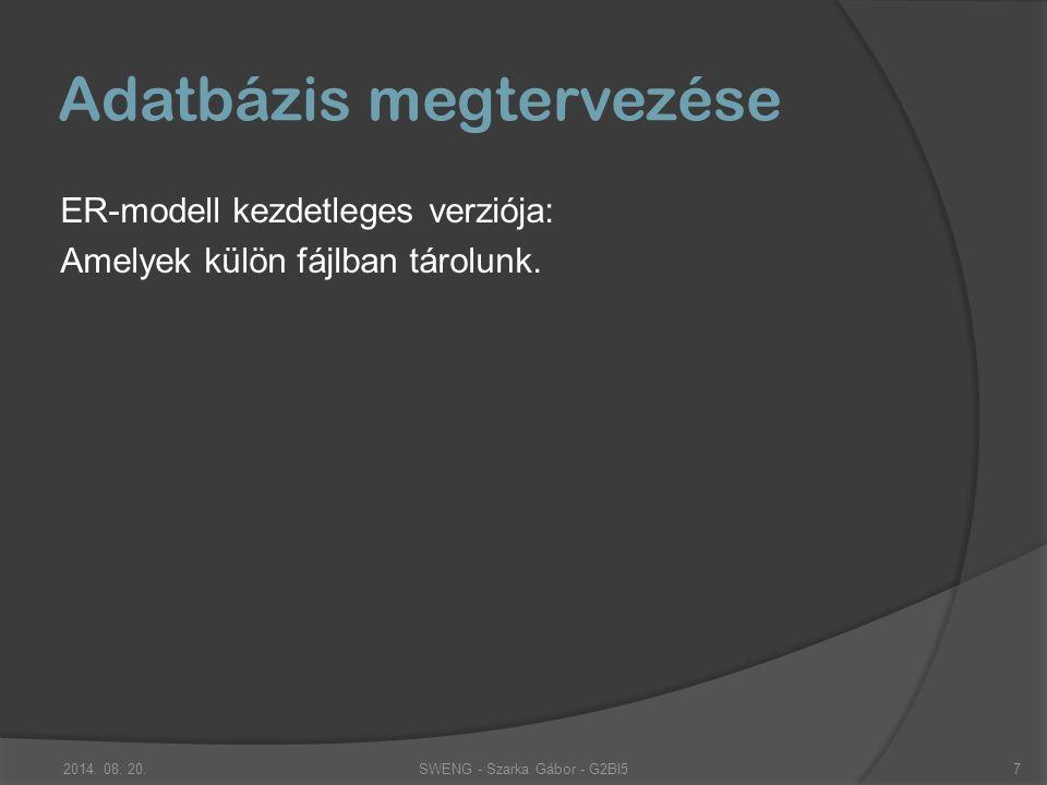Analízis modell Elkészült: Az analízis modell kezdeti verziója, ill.
