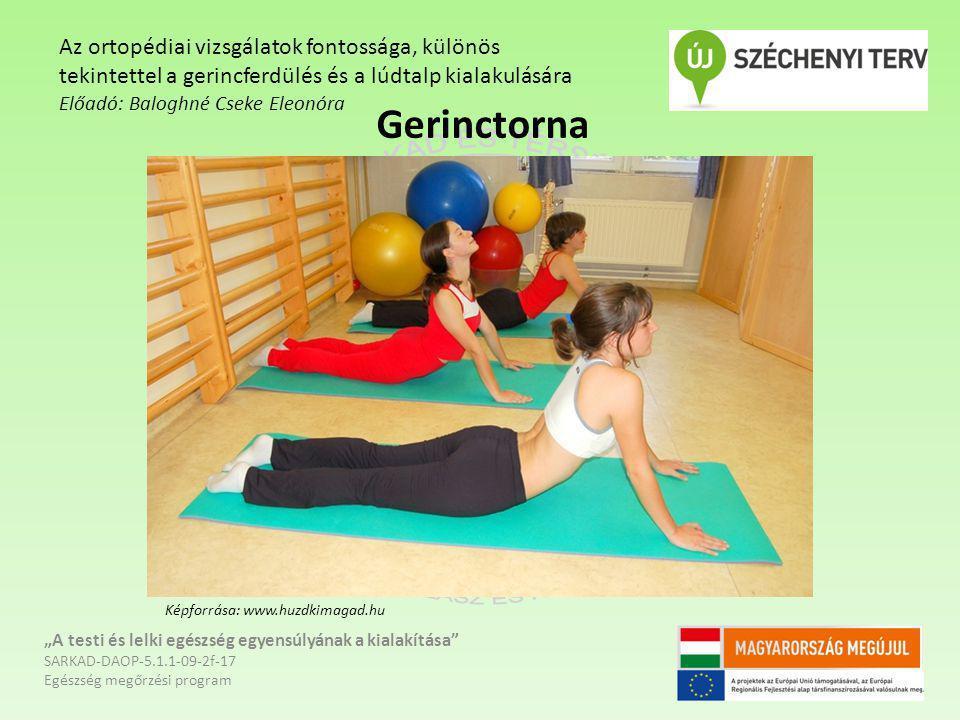 """Gerinctorna """"A testi és lelki egészség egyensúlyának a kialakítása"""" SARKAD-DAOP-5.1.1-09-2f-17 Egészség megőrzési program Az ortopédiai vizsgálatok fo"""