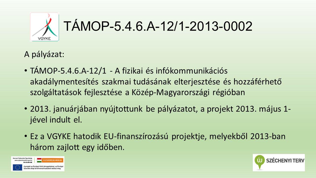 TÁMOP-5.4.6.A-12/1-2013-0002 Jövőkép: Képzéseinket a következő három évben félévente hirdetjük meg a projekt fenntartási kötelezettsége keretében, önköltségi alapon.
