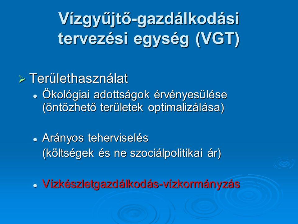  Területhasználat Ökológiai adottságok érvényesülése (öntözhető területek optimalizálása) Ökológiai adottságok érvényesülése (öntözhető területek opt