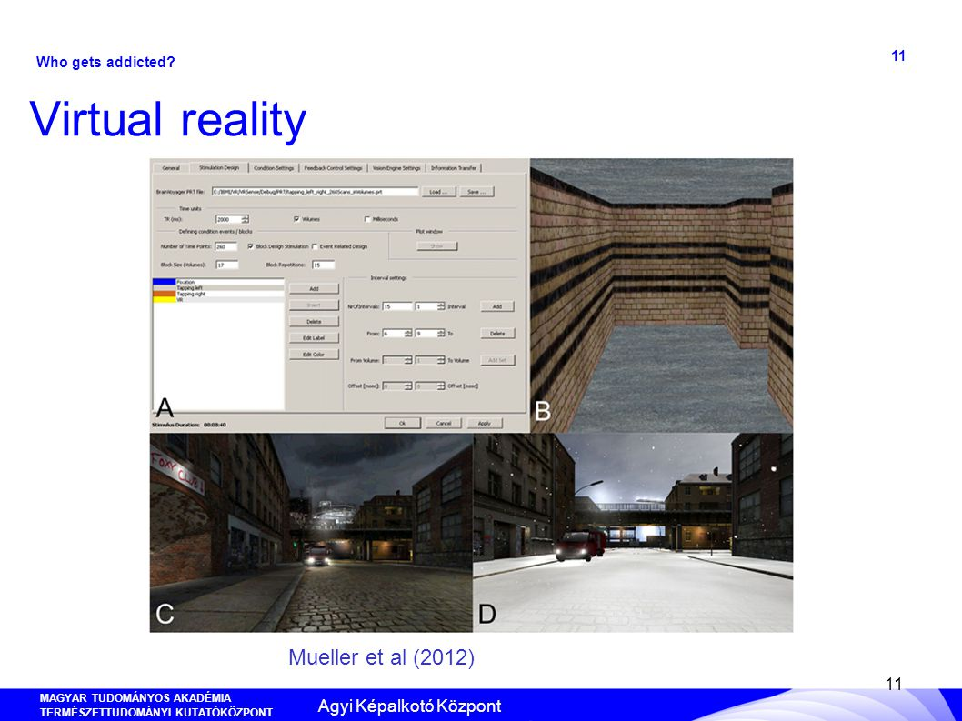 MAGYAR TUDOMÁNYOS AKADÉMIA TERMÉSZETTUDOMÁNYI KUTATÓKÖZPONT ANYAG- ÉS KÖRNYEZETKÉMIAI INTÉZET 11 Virtual reality 11 Mueller et al (2012) Who gets addi