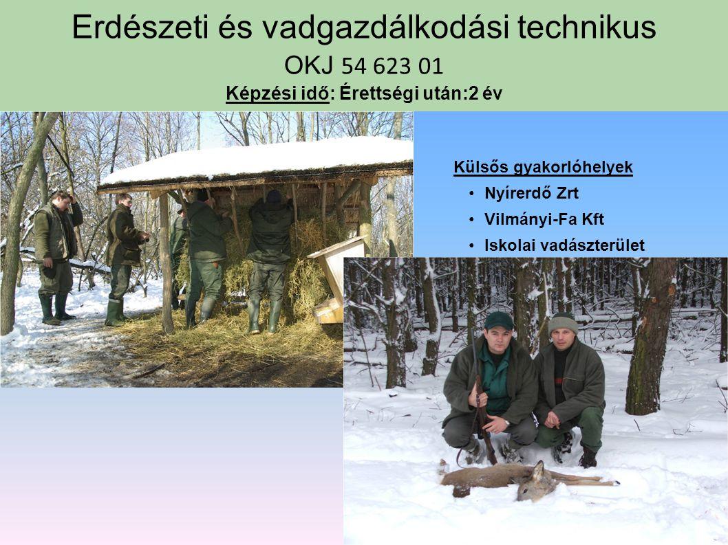 Szakközépiskolai szakképző évfolyam ( érettségi után) Környezetvédelmi technikus Mezőgazdasági gépésztechnikus Erdészeti és vadgazdálkodási technikus