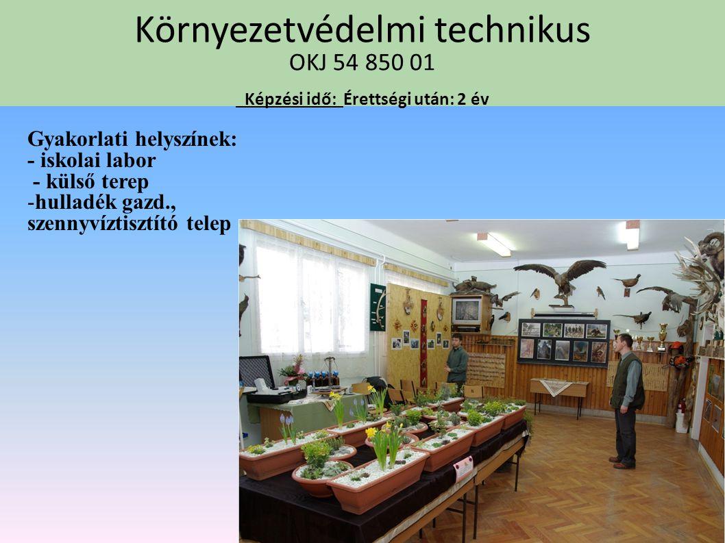 Mezőgazdasági gépésztechnikus OKJ 54 623 01 Képzési idő: Érettségi után:2 év Gyakorlóhelyek: -Iskolai tanműhelyek - Hajdúdorogi Bocskai Növterm. Kft -