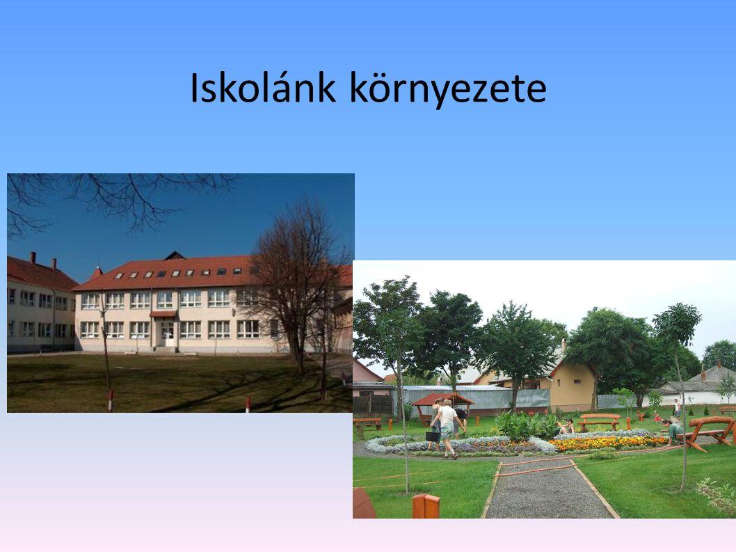Iskolánk környezete Az iskola környékét szépíti egy 2009-ben kialakított és átadott díszpark, mely igényes és kedvelt pihenőhelye diákjainknak.
