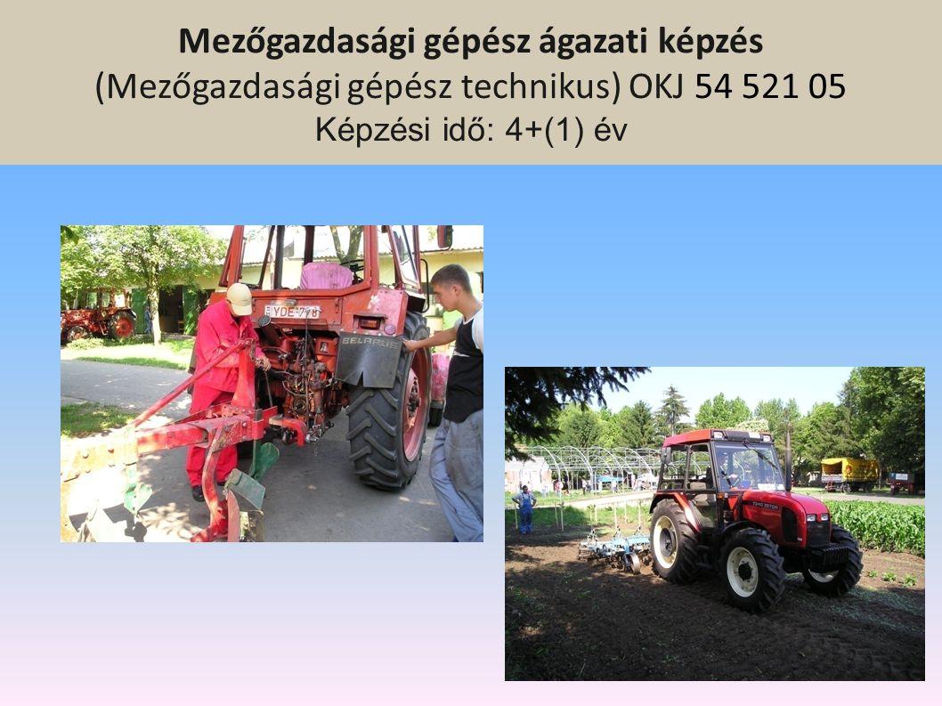Szakközépiskolai ágazati képzés 9-12.évfolyam Mezőgazdasági gépész ágazati képzés Környezetvédelem-vízgazdálkodás ágazati képzés Erdészet és vadgazdál