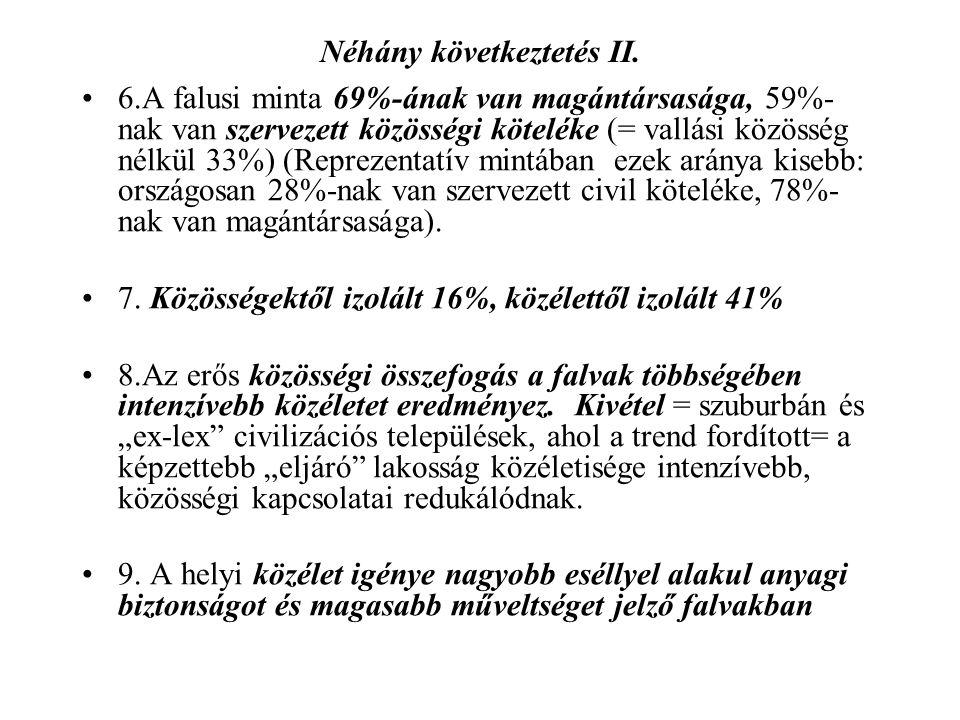 Néhány következtetés II.