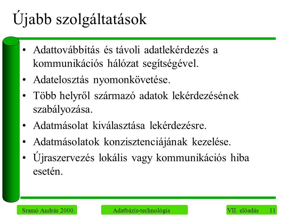 11 Sramó András 2000. Adatbázis-technológia VII.
