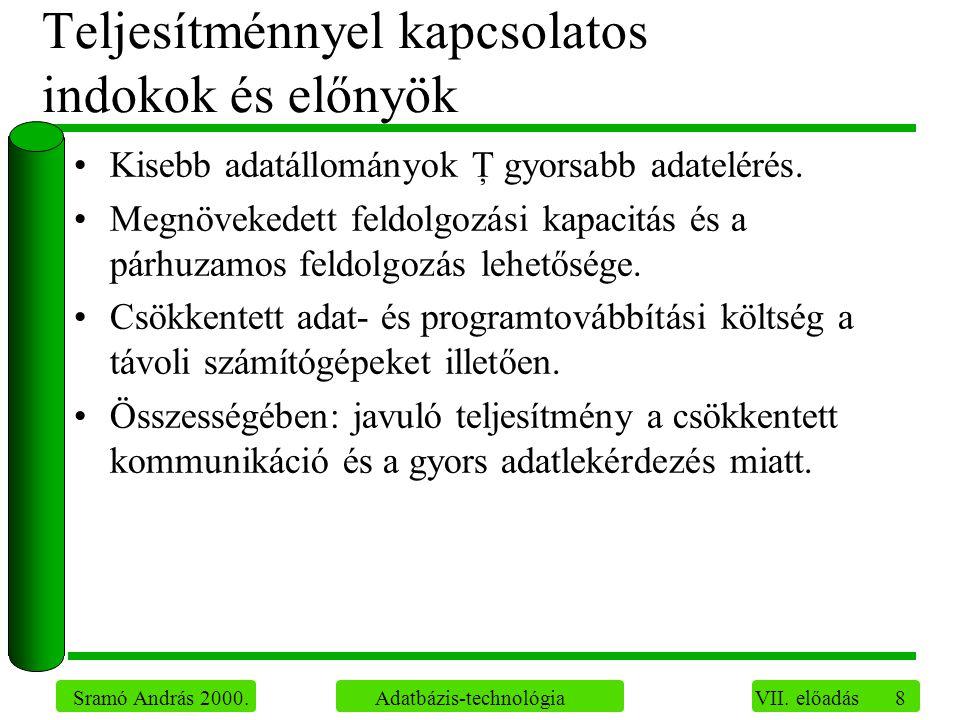 8 Sramó András 2000. Adatbázis-technológia VII.