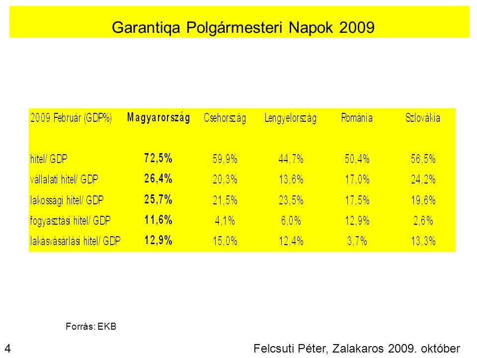 Garantiqa Polgármesteri Napok 2009 Felcsuti Péter, Zalakaros 2009. október 9. 4 Forrás: EKB