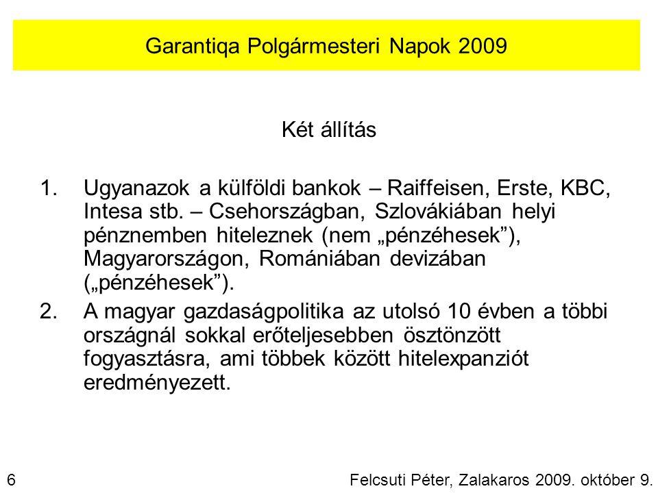 Két állítás 1.Ugyanazok a külföldi bankok – Raiffeisen, Erste, KBC, Intesa stb.
