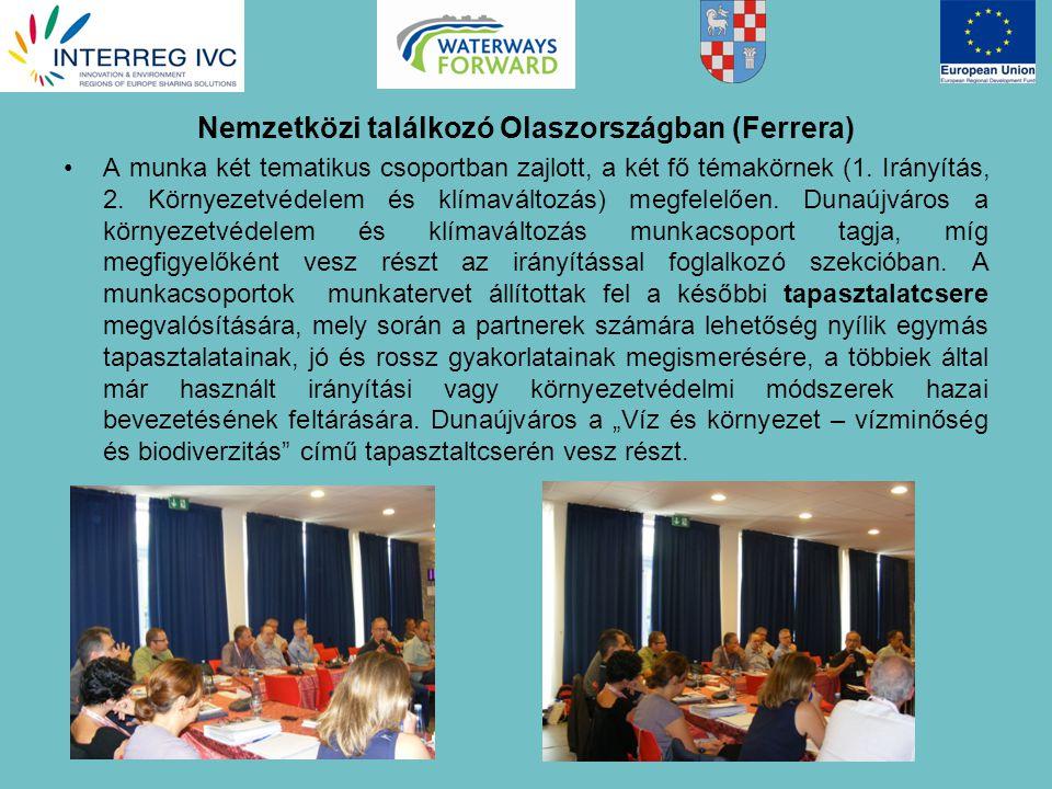Nemzetközi találkozó Olaszországban (Ferrera) A munka két tematikus csoportban zajlott, a két fő témakörnek (1.