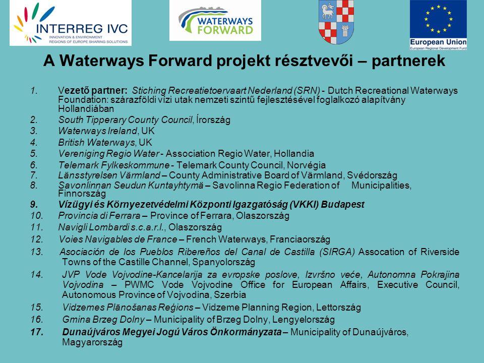 A Waterways Forward projekt eredményeképp A partnerek közötti tudás megosztásával olyan regionális irányítási modellek kerülnek majd kidolgozásra, melyek a vizek multifunkcionális használatán alapulnak.