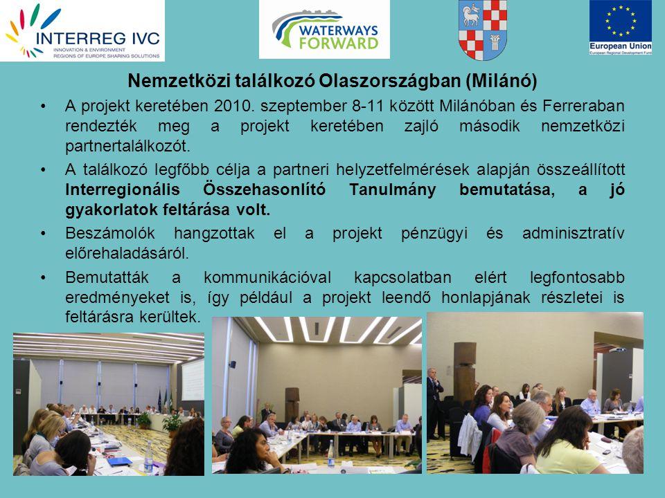 Nemzetközi találkozó Olaszországban (Milánó) A projekt keretében 2010.