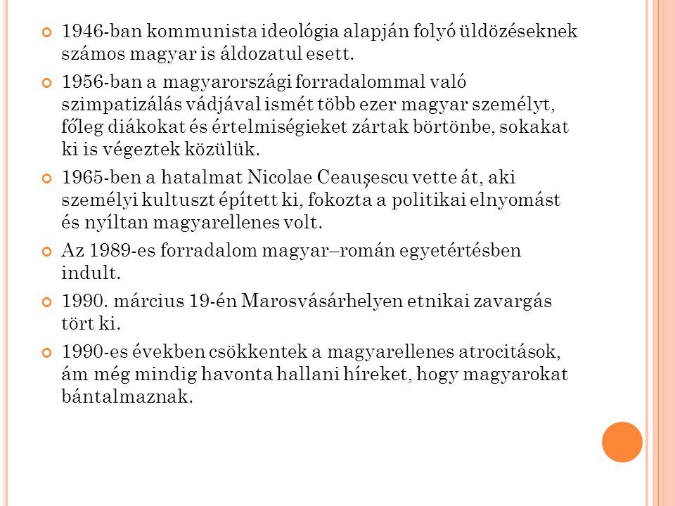 S ZLOVÁKIAI MAGYAROK A csehszlovák–magyar államhatárt nem etnikai, hanem stratégiai, gazdasági és közlekedési szempontok alapján húzták meg.