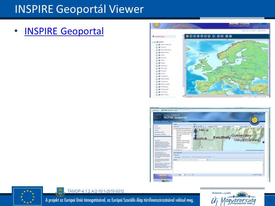 TÁMOP-4.1.2.A/2-10/1-2010-0012 INSPIRE Geoportal INSPIRE Geoportál Viewer101