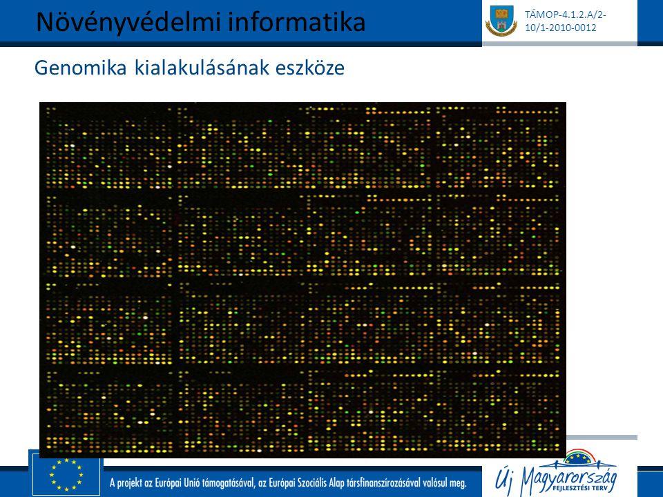 TÁMOP-4.1.2.A/2- 10/1-2010-0012 Genomika kialakulásának eszköze Növényvédelmi informatika