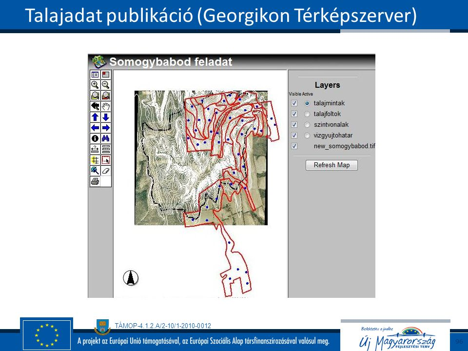 TÁMOP-4.1.2.A/2-10/1-2010-0012 Talajadat publikáció (Georgikon Térképszerver) 96