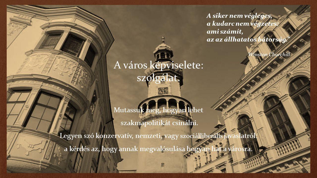 A város képviselete: szolgálat. Mutassuk meg, hogyan lehet szakmapolitikát csinálni. Legyen szó konzervatív, nemzeti, vagy szociálliberális javaslatró