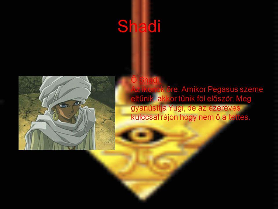 Shadi Ő Shadi. Az ikonok őre. Amikor Pegasus szeme eltűnik, akkor tűnik föl először.