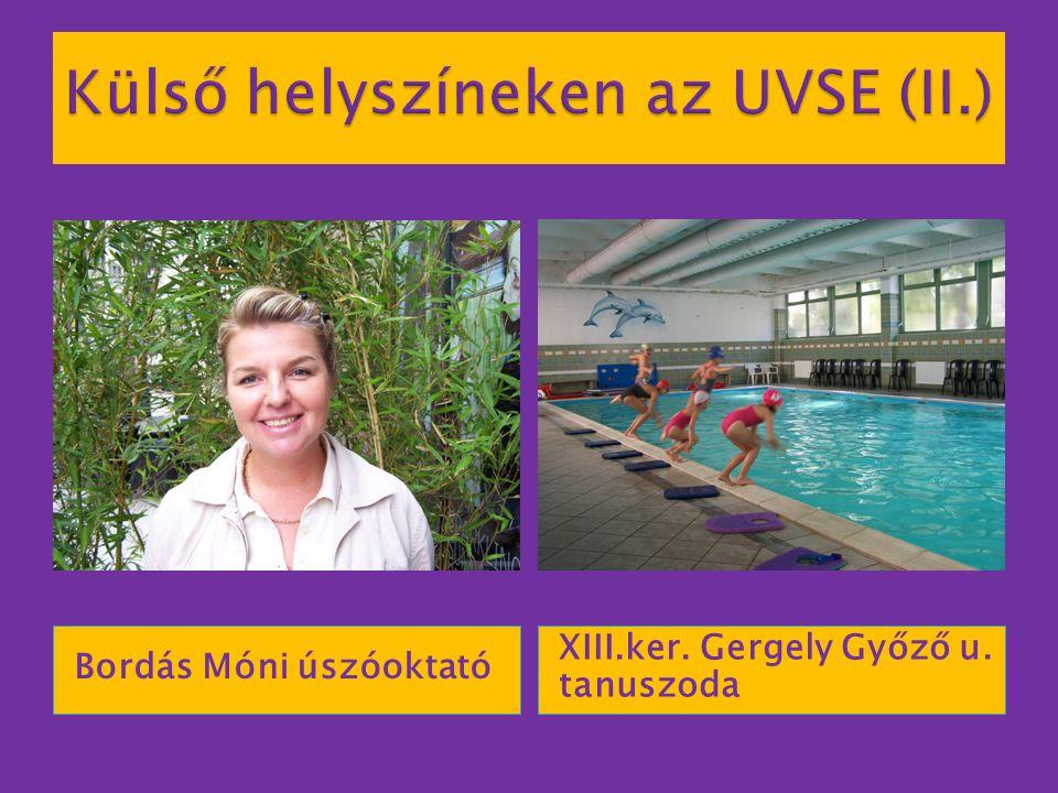 Bordás Móni úszóoktató XIII.ker. Gergely Győző u. tanuszoda