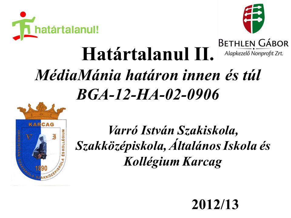 A programról: Határon túli magyar és magyarországi diákok együttműködése Mindkét fél utazása és szállása biztosított a költségvetésből Szakmai tevékenység Közösen elkészített végtermék A 2012/13-as projekt pénzügyi kerete: 1260000 Ft