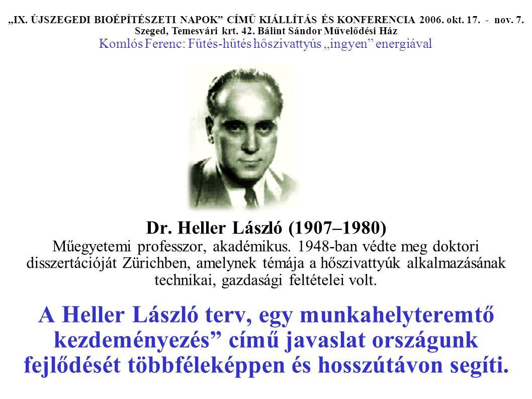 Dr. Heller László (1907–1980) Műegyetemi professzor, akadémikus.