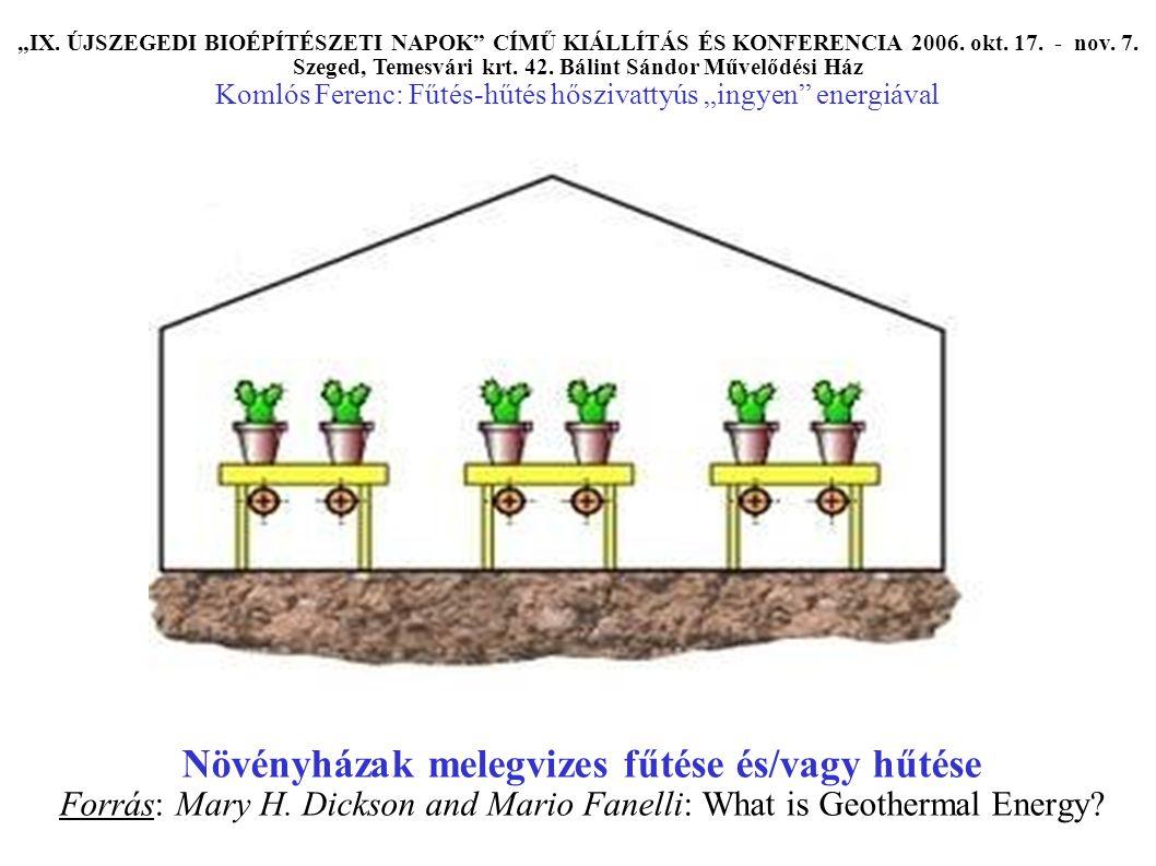 """Többszintes épület hőszivattyús rendszerű fűtése és/vagy hűtése Forrás: GEOWATT cég, Ladislaus Rybach """"IX."""