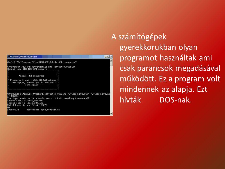 A DOS rendszerére épültek olyan segédprogramok mint pl.: a Norton Commander, ami javított a gépek kezelhetőségén