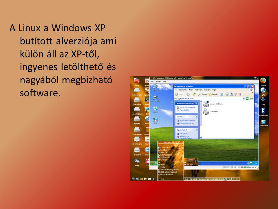 A Linux a Windows XP butított alverziója ami külön áll az XP-től, ingyenes letölthető és nagyából megbízható software.
