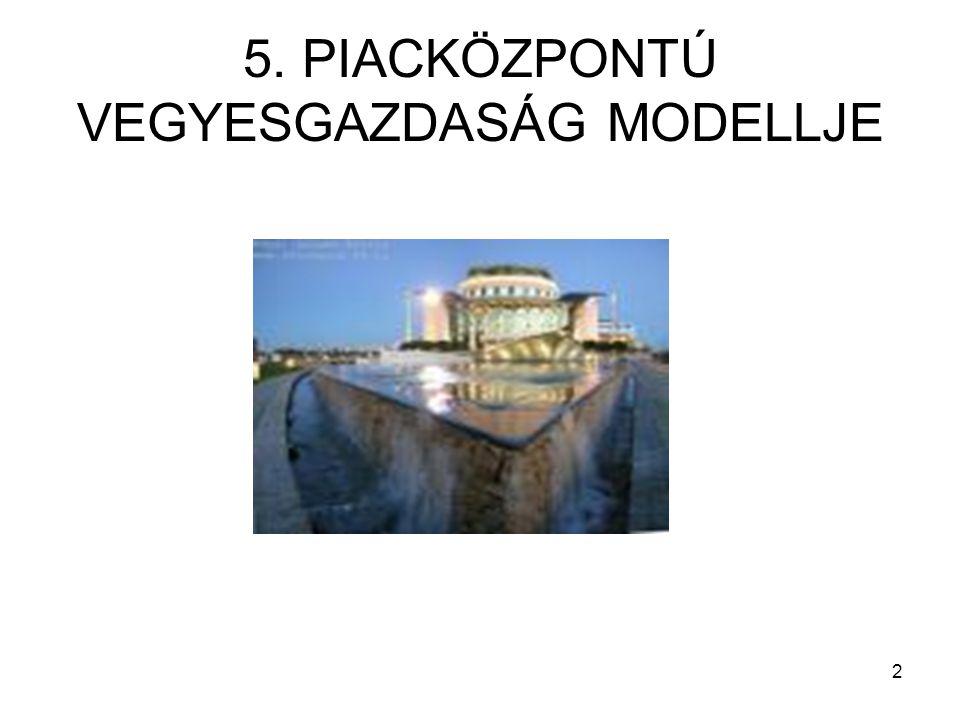 2 5. PIACKÖZPONTÚ VEGYESGAZDASÁG MODELLJE