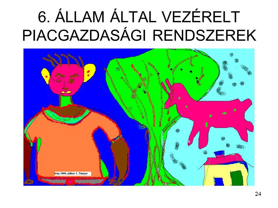 24 6. ÁLLAM ÁLTAL VEZÉRELT PIACGAZDASÁGI RENDSZEREK