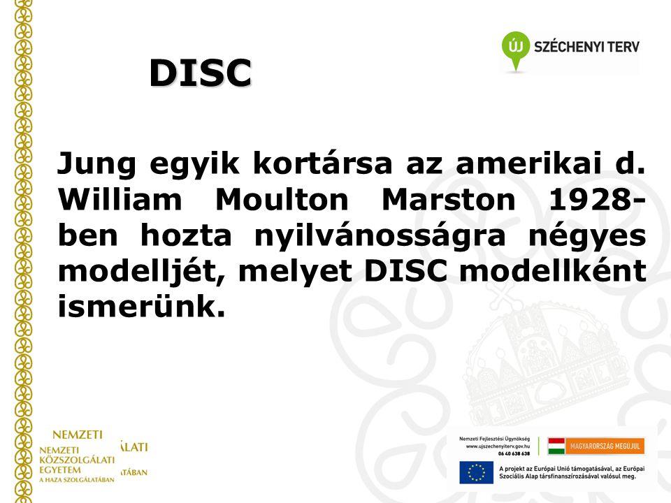 Jung egyik kortársa az amerikai d. William Moulton Marston 1928- ben hozta nyilvánosságra négyes modelljét, melyet DISC modellként ismerünk. DISC