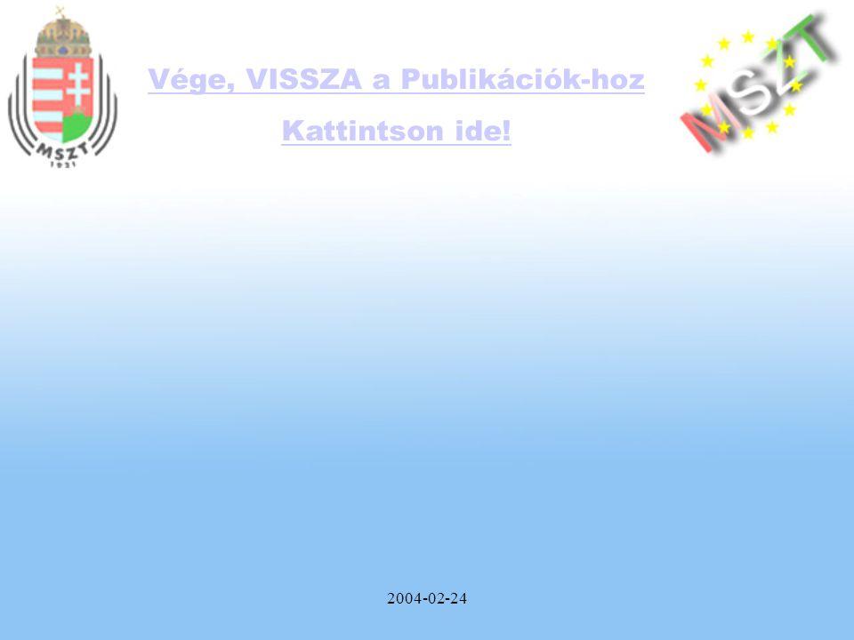 2004-02-24 Vége, VISSZA a Publikációk-hoz Kattintson ide!