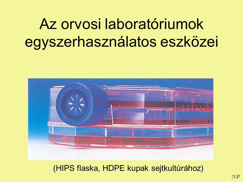 NP Az orvosi laboratóriumok egyszerhasználatos eszközei (HIPS flaska, HDPE kupak sejtkultúrához)