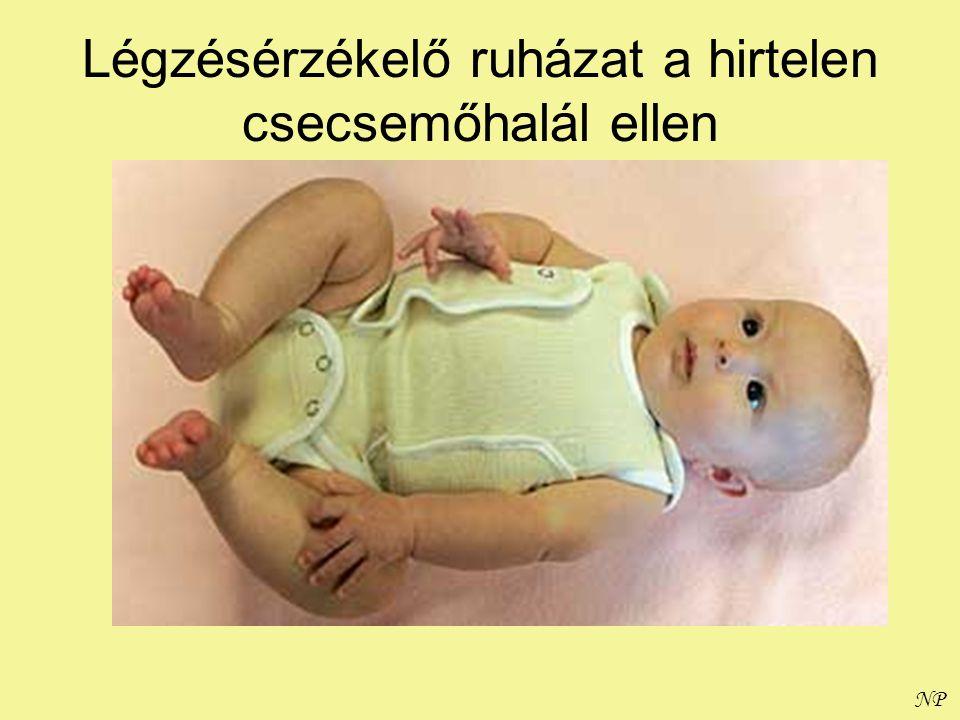 NP Légzésérzékelő ruházat a hirtelen csecsemőhalál ellen
