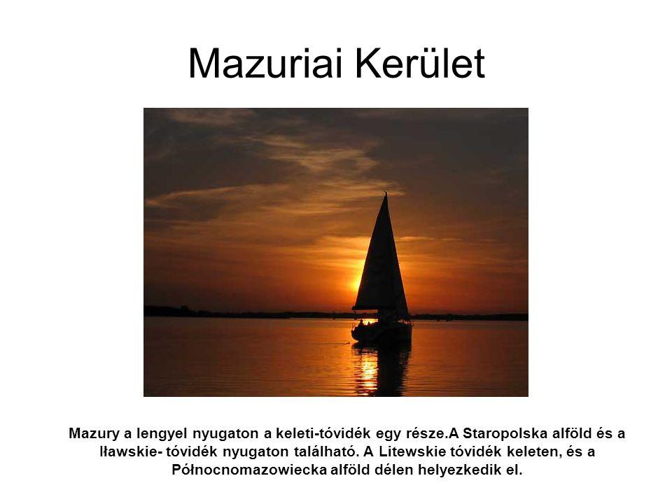 Mazury a lengyel nyugaton a keleti-tóvidék egy része.A Staropolska alföld és a Iławskie- tóvidék nyugaton található. A Litewskie tóvidék keleten, és a