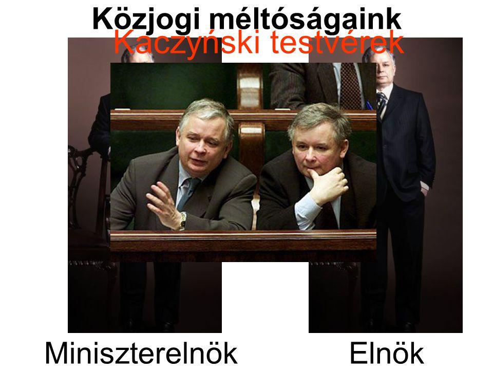Közjogi méltóságaink ElnökMiniszterelnök Kaczyński testvérek