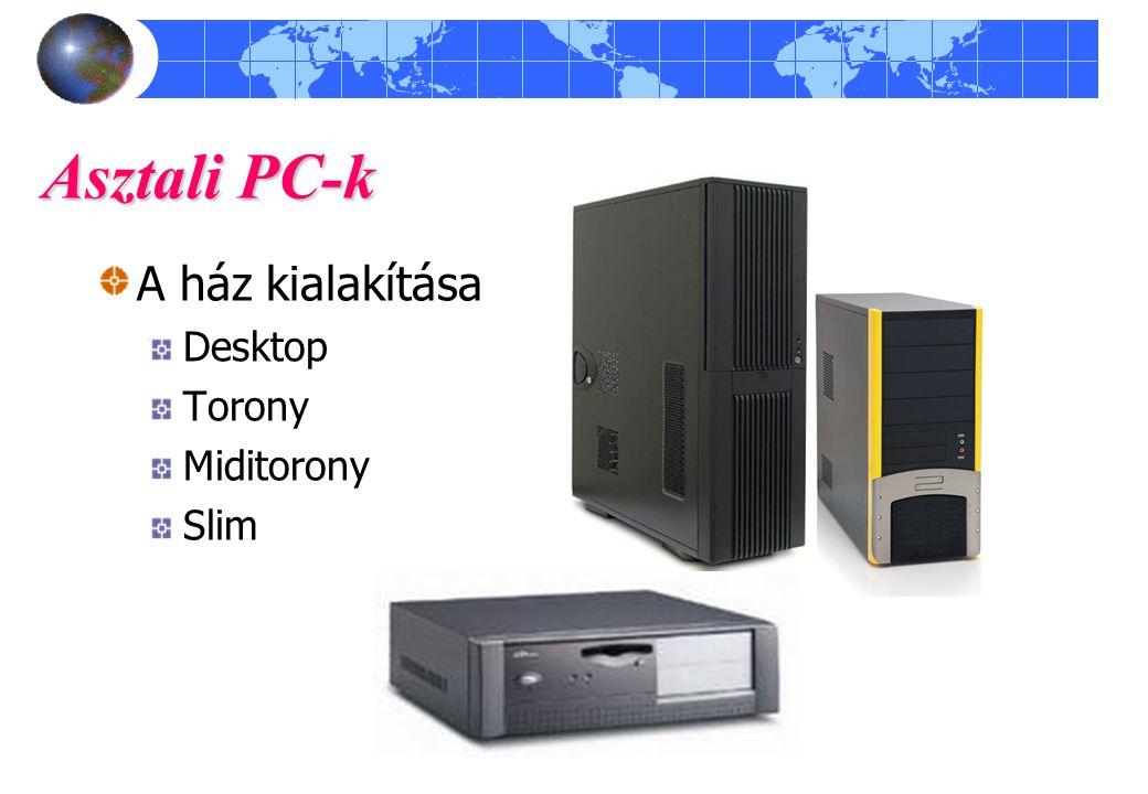 Asztali PC-k A ház kialakítása szerint Desktop Torony Miditorony Slim