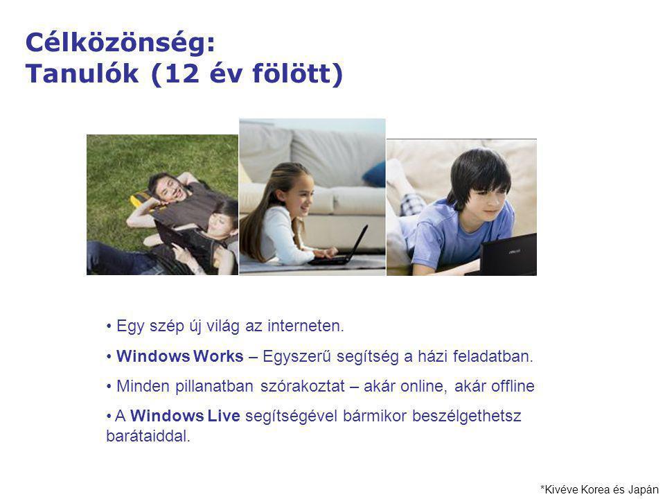 Célközönség: Tanulók (12 év fölött) Egy szép új világ az interneten. Windows Works – Egyszerű segítség a házi feladatban. Minden pillanatban szórakozt