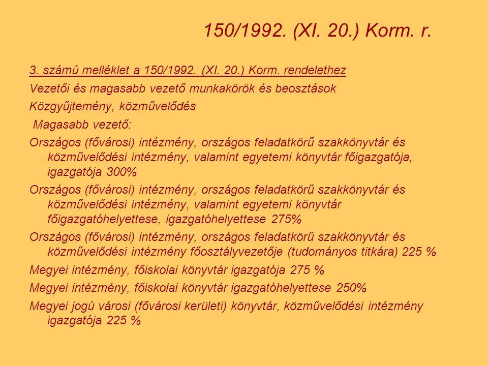 3.számú melléklet a 150/1992. (XI. 20.) Korm.