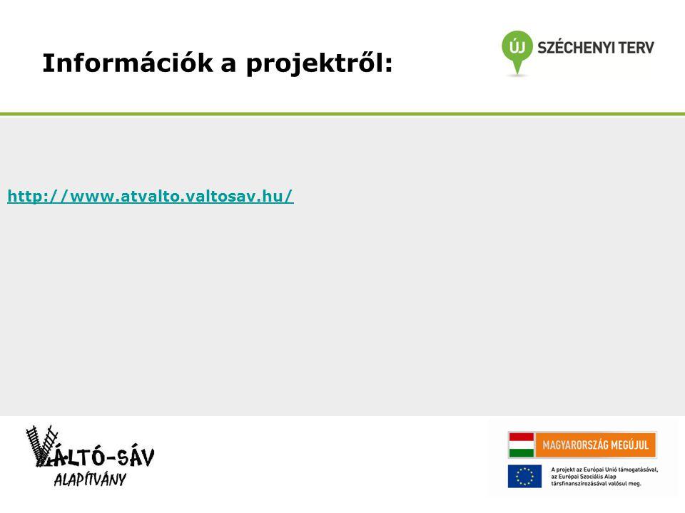 Információk a projektről: http://www.atvalto.valtosav.hu/