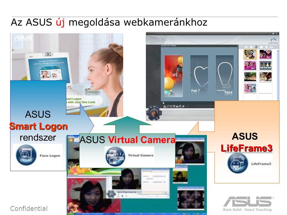 16 Confidential ASUSLifeFrame3 Smart Logon rendszer Virtual Camera ASUS Virtual Camera Az ASUS új megoldása webkameránkhoz