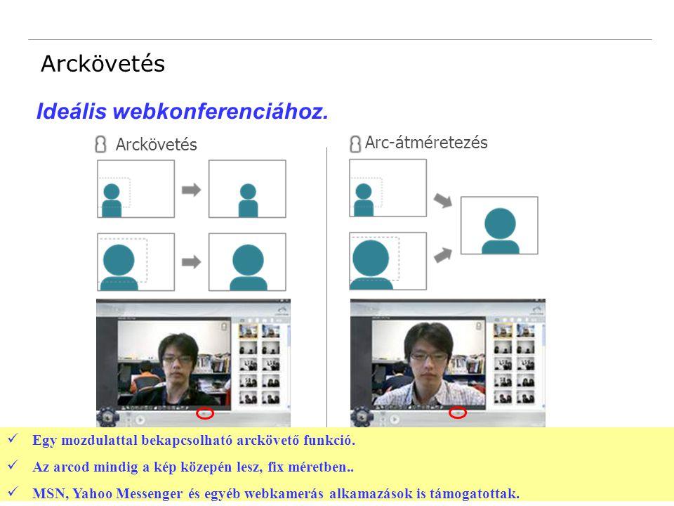 18 Confidential Arckövetés Arc-átméretezés Egy mozdulattal bekapcsolható arckövető funkció.