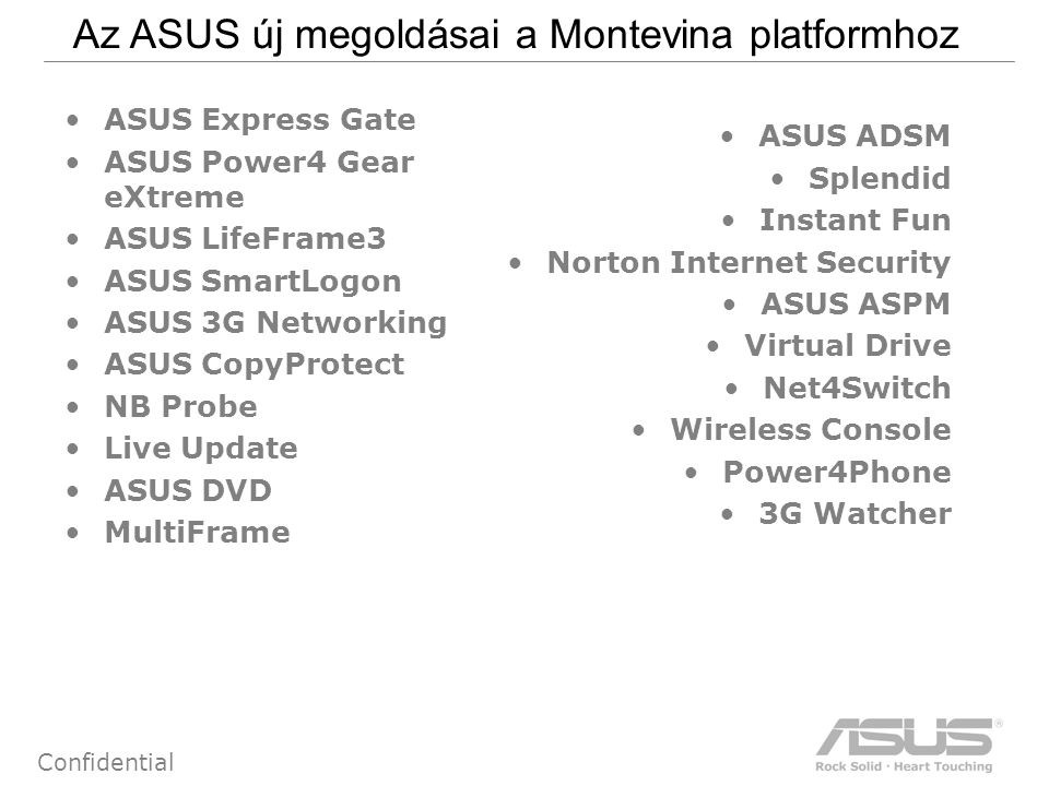 73 Confidential ASPM: ASUS Security Protect Manager