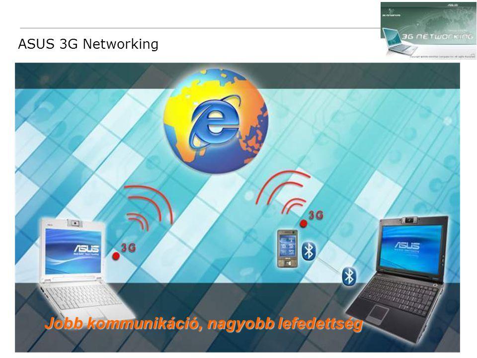 38 Confidential ASUS 3G Networking Jobb kommunikáció, nagyobb lefedettség