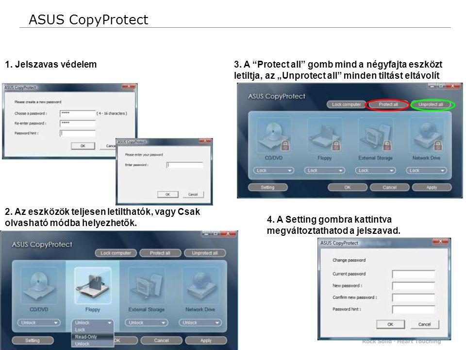42 Confidential 1. Jelszavas védelem ASUS CopyProtect 2.
