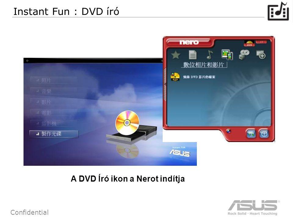 66 Confidential A DVD Író ikon a Nerot indítja Instant Fun : DVD író