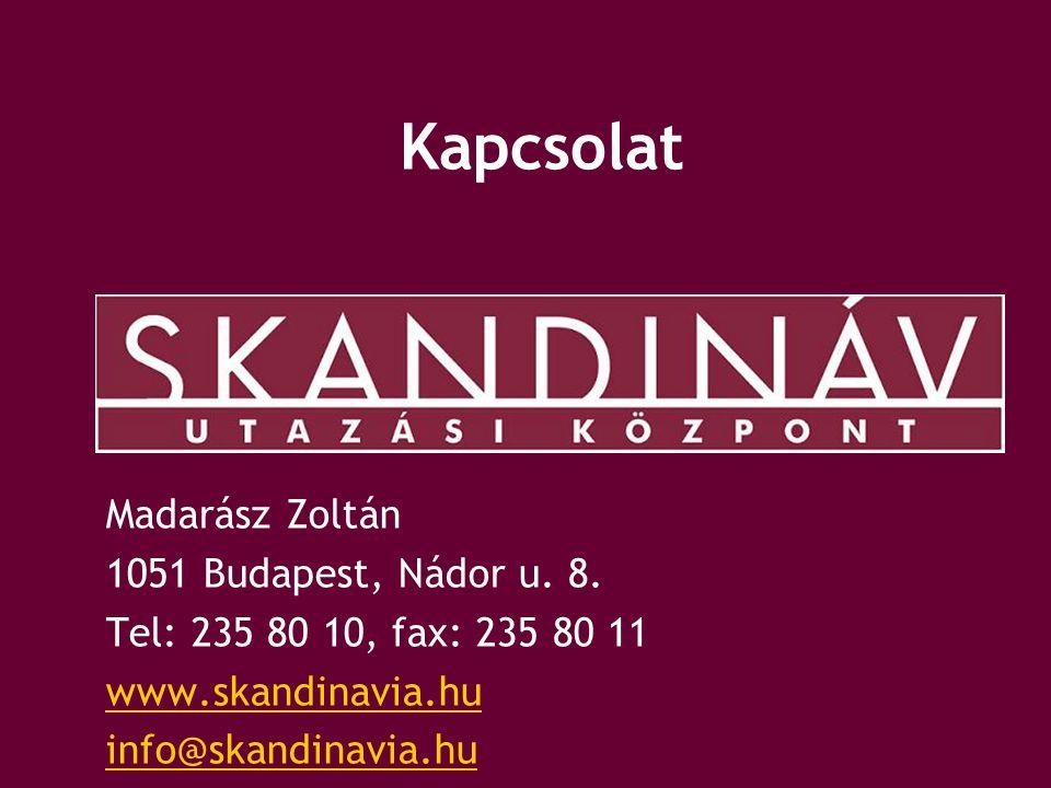 Kapcsolat Madarász Zoltán 1051 Budapest, Nádor u. 8.