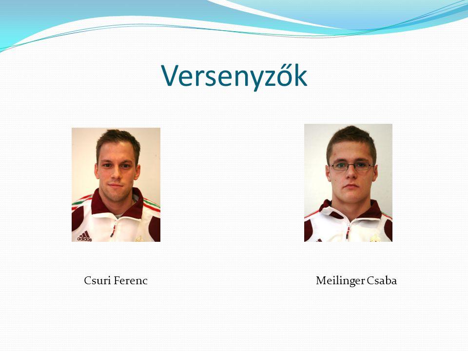 Versenyzők Csuri FerencMeilinger Csaba