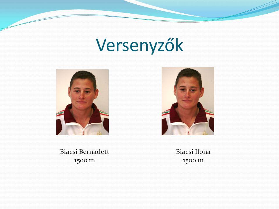 Versenyzők Biacsi Bernadett 1500 m Biacsi Ilona 1500 m